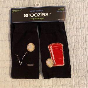 Snoozies beer pong socks